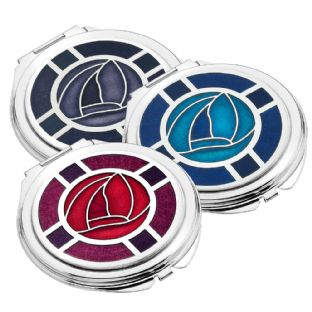 Rennie Mackintosh Rose Compact Mirror